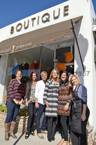 The La Cañada Junior Woman's Club is hosting a holiday shopping crawl on Friday, Nov. 15, 2013. Left to right: Jenny Stern of J. Stern Home and Garden, Paige Dunbar, Michelle Sabourin, Paige McIlwain (LCJWC President), Dolly Dickie and Dawn Mink of Texture Hair Spa.