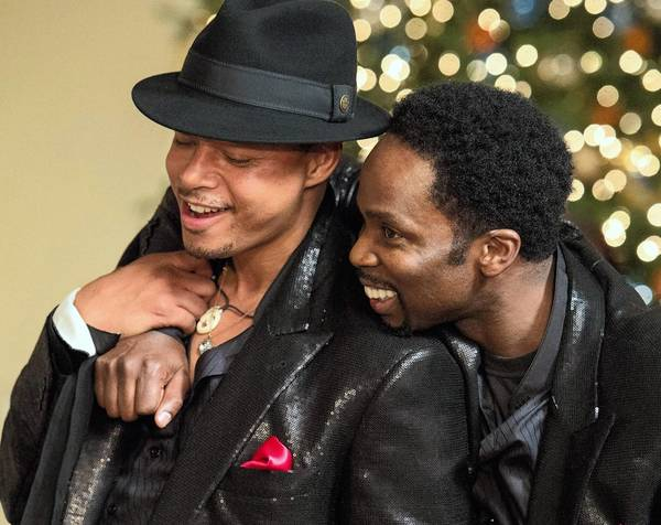 "Quentin (Terrence Howard) and Julian (Harold Perrineau) in ""The Best Man Holiday."""