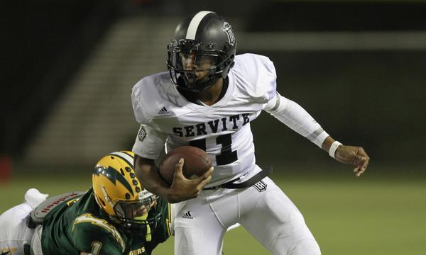 Quarterback Travis Waller will look to lead Servite to a playoff victory over a tough Westlake squad on Friday.