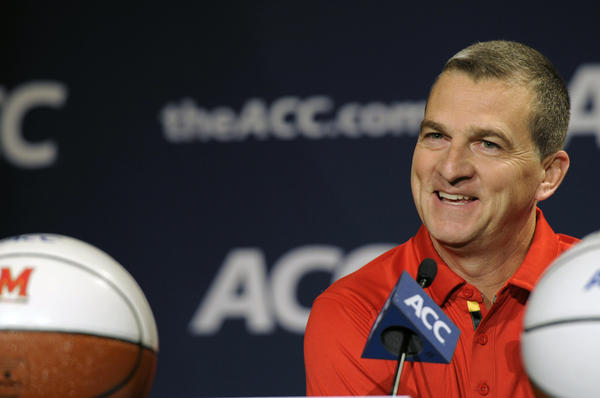 Maryland's Mark Turgeon, shown during ACC media day in October, announced Thursday the signing of four recruits in the Class of 2014.