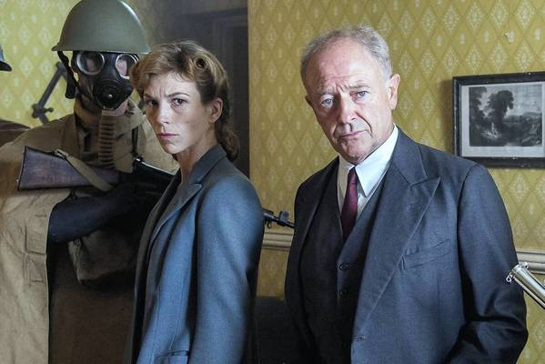 """Michael Kitchen, right, and Honeysuckle Weeks in """"Foyle's War."""""""