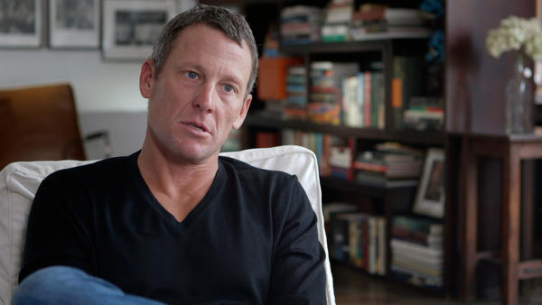 "Lance Armstrong in the documentary ""The Armstrong Lie."""