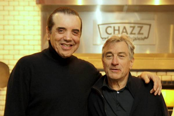 Robert DeNiro joined longtime pal and fellow actor Chazz Palminteri for lunch at the opening of Chazz in Harbor East. Edith Williams/Diamond Digital Portraits