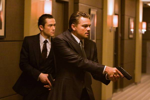 "The PG-13 ""Inception,""; a sci-fi thriller with Joseph Gordon Levitt, left, and Leonardo DiCaprio, has a high rate of gun violence, says the study's authors."