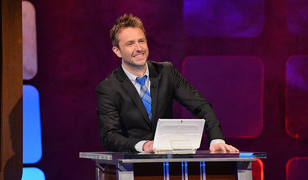 "Chris Hardwick hosts ""@midnight"" on Comedy Central."