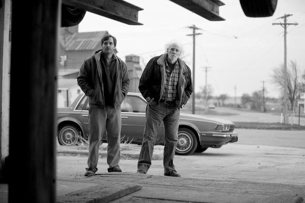 "Will Forte and Bruce Dern in ""Nebraska."""