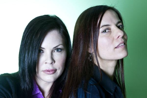 """Christa Campbell, left, and Lati Grobman, two of the executive producers and financial backers of the new documentary """"Brave Miss World."""""""