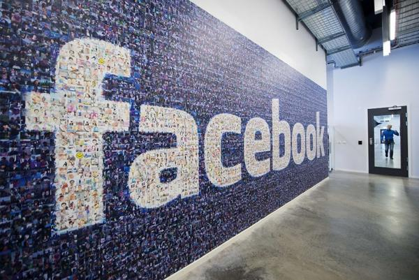 Facebook logo of Facebook users around the world in its data center in Sweden.