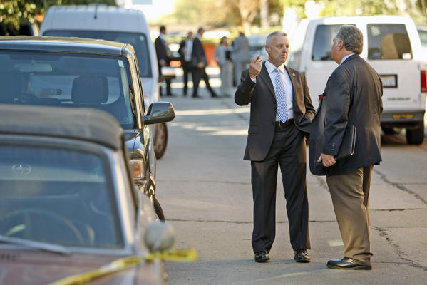 Investigators were scouring a Silver Lake neighborhood on Thursday, November 14, 2013, where Joseph Gatto, 78, the father of Assemblyman Mike Gatto, was found shot to death in the family's home the night before, an autopsy confirmed Friday.