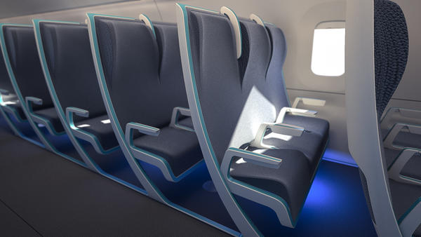The Morph seat can be adjusted to give bigger passengers more space by sliding the armrests laterally.