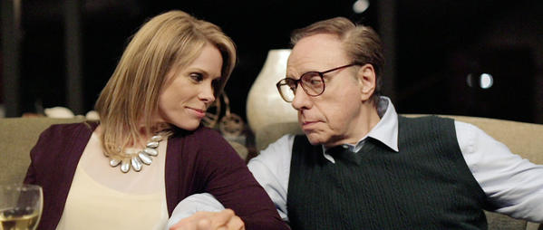 "Cheryl Hines and Peter Bogdanovich in ""Cold Turkey."""
