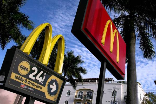 A McDonald's restaurant is seen this week in Miami.