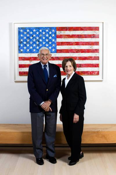 Eli and Edythe Broad are shown in their Los Angeles home. The Broad Foundation named a high-ranking White House official as its first president this week. In addition, the Broads announced a $100-million gift to their institute focused on biomedical research in Cambridge.