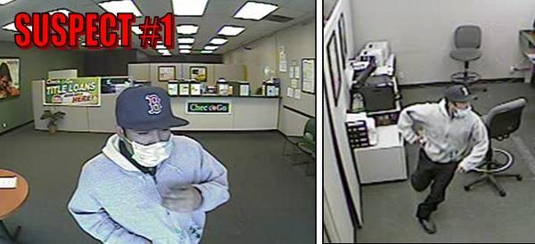 Chino police released images of suspects in the robbery and shooting death of a clerk at a check cashing firm.