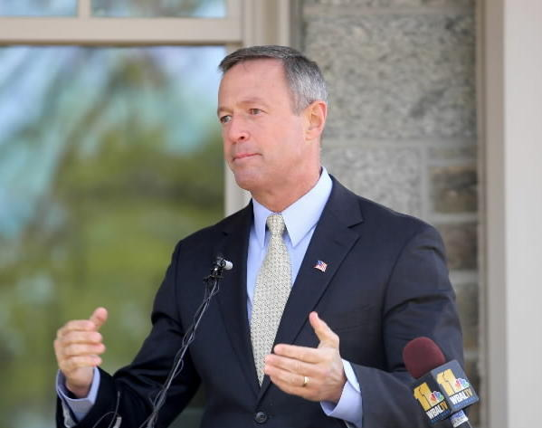 Gov. Martin O'Malley speaks in Maryland earlier this month.