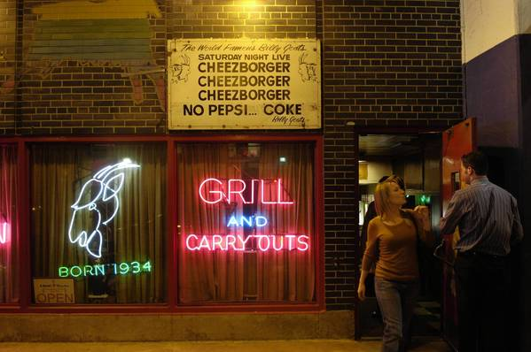 """Chicago's Billy Goat Tavern was made famous in a """"Saturday Night Live"""" sketch with John Belushi. The landmark may be displaced by a redevelopment project."""