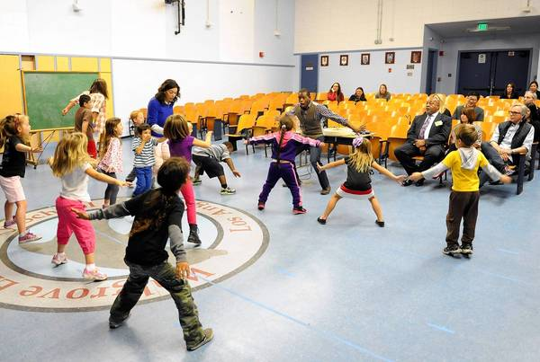 Walgrove Elementary is one of 28 schools that face reduced funding next year as L.A. Unified shifts federal funding to schools with more poverty.