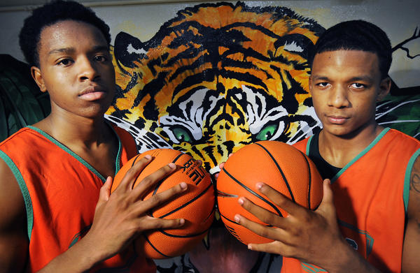 Josh Floyd, left, and Lance Tejada are looking to lead Blanche Ely to a third consecutive state boys basketball title.