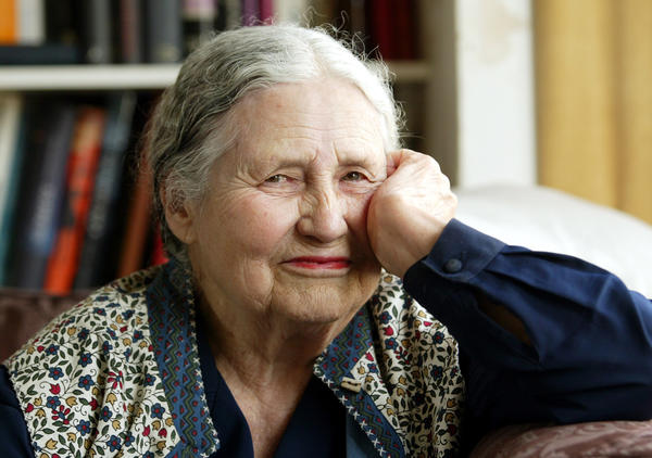 Doris Lessing photographed at her home in north London in 2006.