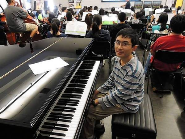 Nathan Chou, 17, of Arcadia High School earned a perfect score on the AP Calculus BC exam in May. Nathan has maintained straight A's in high school and plays the violin and piano in the school's symphony orchestra.