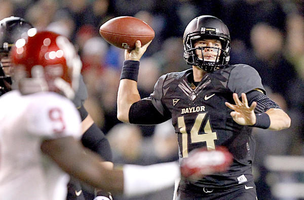 Quarterback Bryce Petty and Baylor have are No. 4 in the BCS standings, right behind Ohio State.