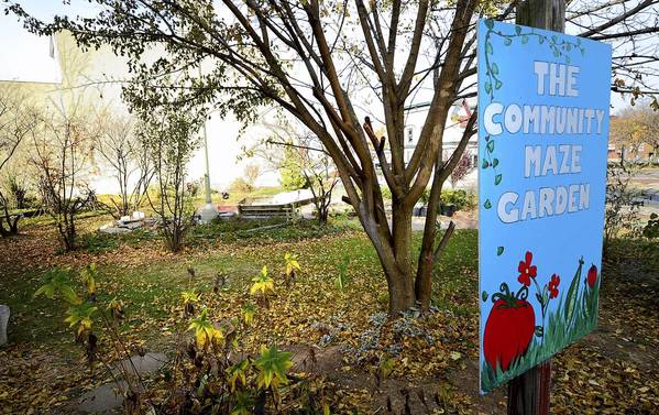 The city of Bethlehem is considering selling the Community Maze Garden tract to a developer, who wants to erect an office building on the site.