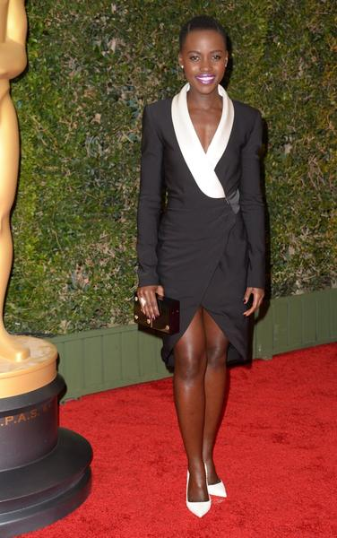 Actress Lupita Nyong'o arrives for the 2013 Governors Awards, presented by the American Academy of Motion Picture Arts and Sciences at the Grand Ballroom of the Hollywood and Highland Center in Hollywood on Saturday.