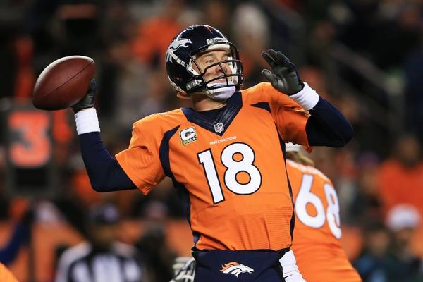 """""""I think to go sackless against the leading sack defense in the NFL, that is a great testament to those guys,"""" Peyton Manning said of his offensive line."""