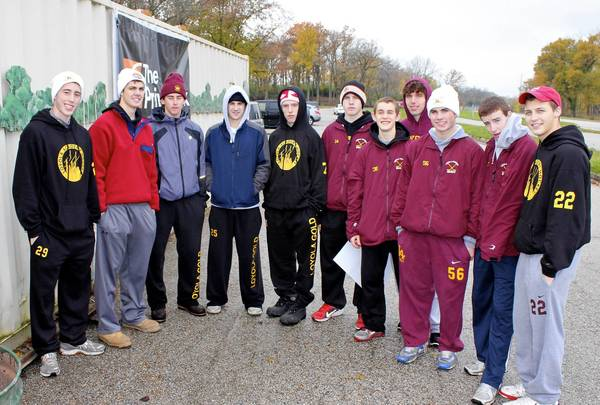Members of the Loyola Academy varsity hockey team recently took part in a trash collection effort at the Skokie Lagoons in Winnetka.