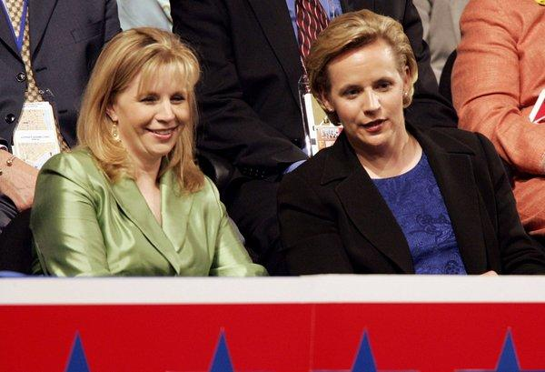 Liz, left, and Mary Cheney attending the 2004 Republican National Convention.