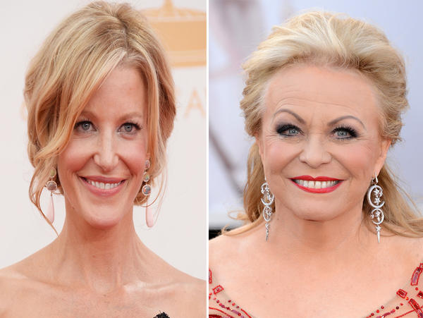 """Breaking Bad""s' Anna Gunn (R), ""Silver Linings Playbook""s' Jacki Weaver (L) sign on for Fox crime series ""Gracepoint."""