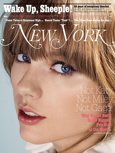 Singer Taylor Swift appears on the cover of New York magazine's Nov. 25 issue and discusses her career, fame and infamous exes.