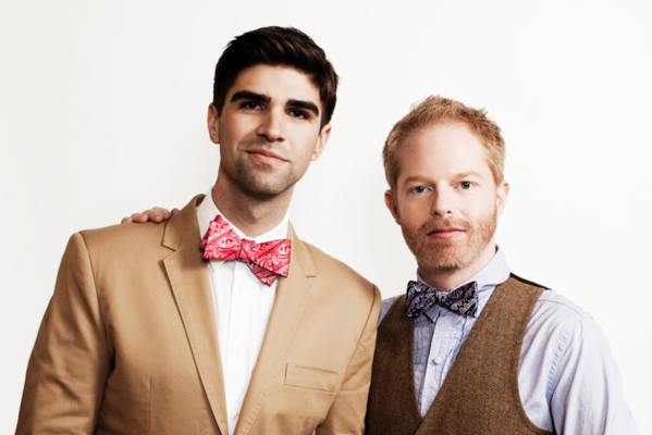 "Tie the Knot, a year-old neckwear line designed by Justin Mikita, left, and his husband, ""Modern Family"" actor Jesse Tyler Ferguson, is moving into bricks-and-mortar retail with a Beverly Center pop-up shop that will be open through Jan. 10."
