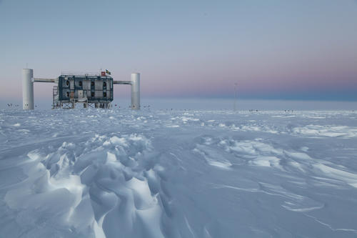 The IceCube Neutrino Observatory at the Amundsen-Scott South Pole station in Antarctica is the world's largest neutrino detector. Its computers collect raw data on neutrino activity from sensors in the ice that look for light emitted when neutrinos strike.