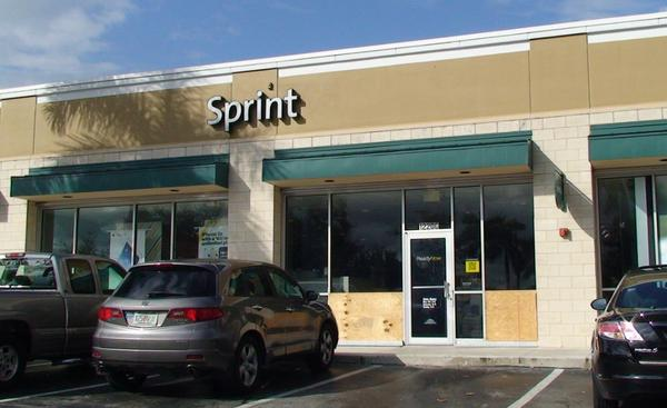 A Sprint store at 12206 Pines Blvd. that police say was robbed early Monday.