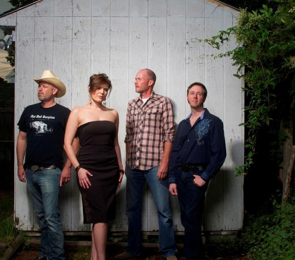 Gina Dalmas and the Cow Tippin' Playboys play country favored with raw rock 'n' roll.