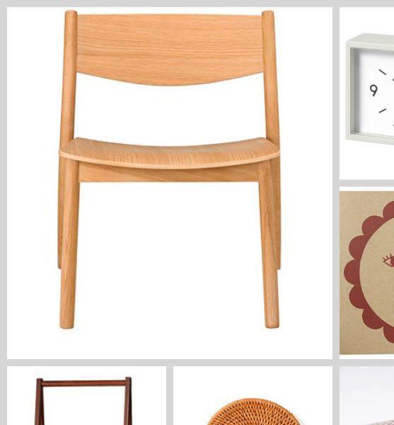 "Japanese retailer Muji brings its minimalist line of lifestyle products to Los Angeles. Among the Muji-ness pictured here: solid oak chair, alarm clock, stationery, steel and resin chair, cotton bedding, coasters, under-bed ""drawers"" and a space-saving coat and shoe rack."