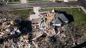 The Washington tornado: Devastation from the air