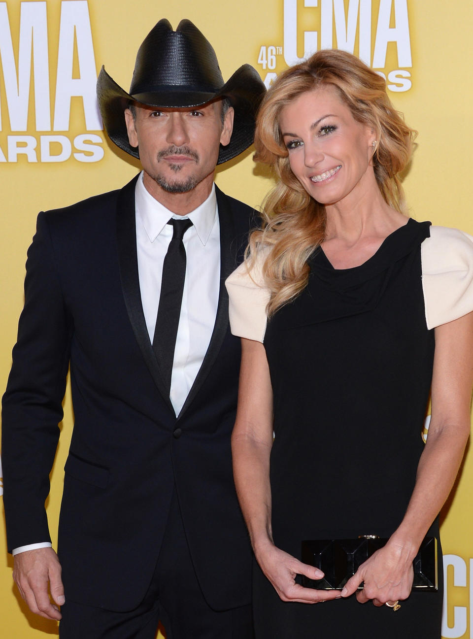 Country music couple Tim McGraw and Faith Hill are once again shooting down rumors of a split.