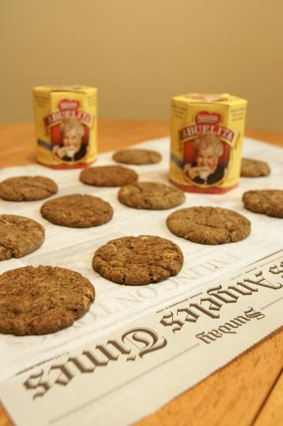 Shown are Abuelita's Chocolate Sugar Cookies from Jon-Michael Hice of Northridge.