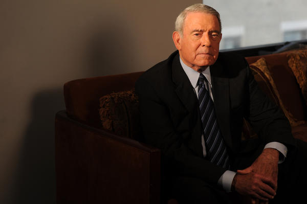 Dan Rather in his office in Manhattan in 2009.