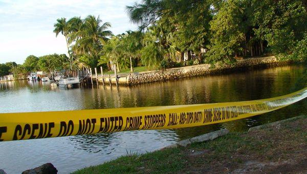 A Toyota Camry veered into this canal on the 1200 block of Old Griffin Road in Dania Beach with a body inside, detectives said