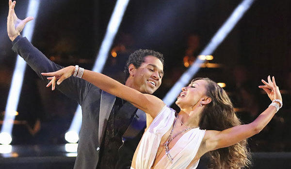 "Corbin Bleu and Karina Smirnoff perform on ""Dancing With the Stars."""