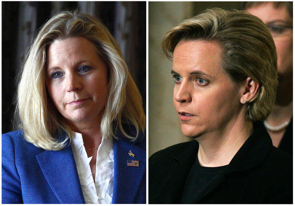 Liz Cheney, left, and her sister Mary Cheney.