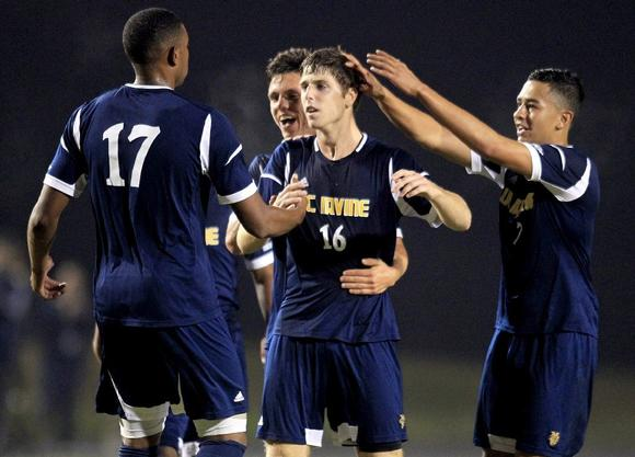 UC Irvine, including  UC Irvine's Bryan Breslin (16),  Lester Hayes (17), Mats Bjurman and Christopher Santana, will play host to a NCAA Championship second-round match Sunday at 2 p.m.