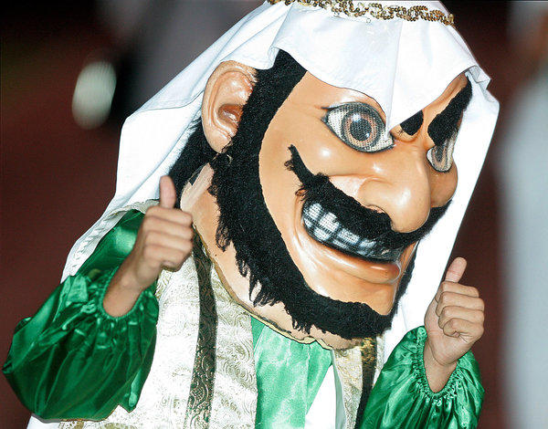 Coachella Valley High School's mascot is seen in 2010.