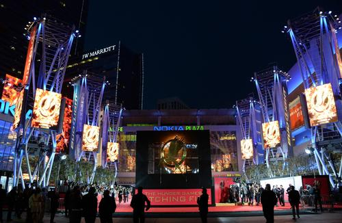 """A general view of the Los Angeles premiere of """"The Hunger Games: Catching Fire."""""""