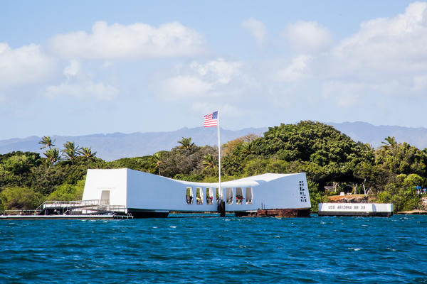 The USS Arizona Memorial will be the site of an annual commemoration of the attack on Oahu's Pearl Harbor on the morning of Dec. 7.