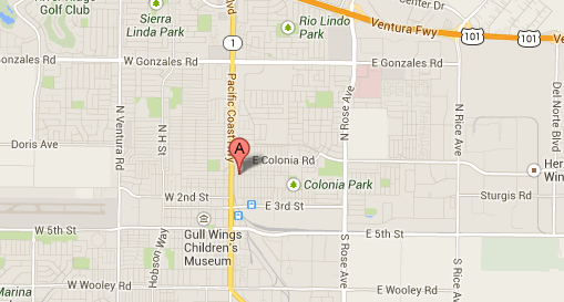 Map shows area where Oxnard police say a 15-year-old girl was forced into prostitution.