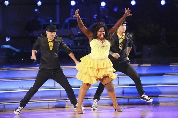 Derek Hough, Amber Riley, Mark Ballas